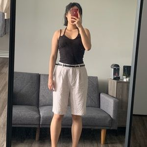 NAKD Curated Styles Oversized Linen Blend Shorts